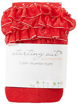 Starting Out Baby Girls Ruffled Dot Tights