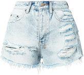 Ksubi distressed denim shorts - women - Cotton - 24