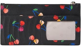Kate Spade Spencer Cherries Leather Wallet Wristlet