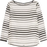 Goat Breton striped cotton and silk-blend organza top