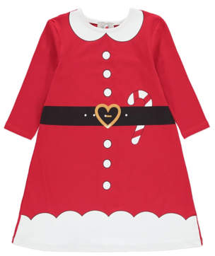 George Red Miss Santa Claus Christmas Dress