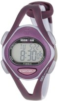 Timex Women's T5K007 Ironman Sleek 50 Mid-Size Plum Resin Strap Watch
