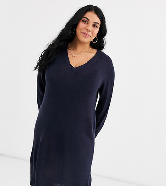 Brave Soul Plus v neck sweater dress