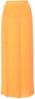 Sonia Rykiel Sunflower Orange Front Split Knit Skirt