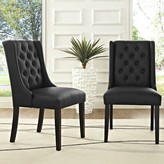 Modway Baronet Upholstered Dining Chair Color: Black