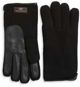 UGG Mixed Media Faux Fur-Lined Gloves