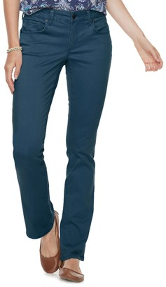 Sonoma Goods For Life Women's Midrise Sateen Bootcut Pants
