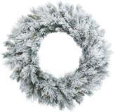 "Vickerman 30"" Flocked Castle Wreath DL 50LED WmWht"