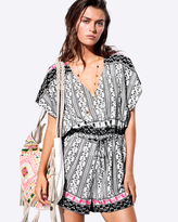 Seafolly Embroidered Print Playsuit