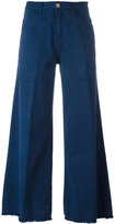 Twin-Set wide-legged cropped trousers - women - Cotton - 26