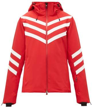 Perfect Moment Chevron Striped Technical Ski Jacket - Womens - Red