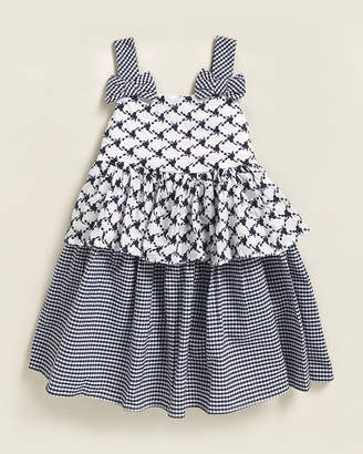 Pippa & Julie Toddler Girls) Embroidered & Check Dress