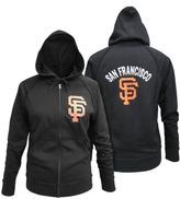 MLB Women Fleece Zip Giants Black