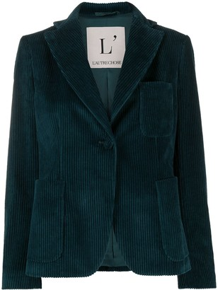 L'Autre Chose Corduroy Fitted Jacket