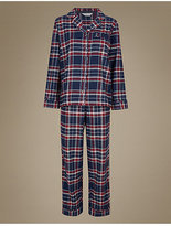 M&S Collection Cotton Rich Checked Pyjamas