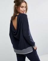 Sol Angeles Drape Back Sweater
