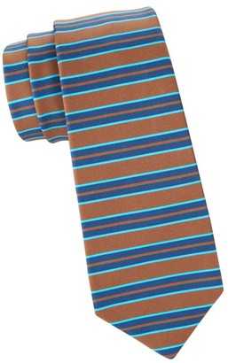 Kiton Horizontal Stripe Silk Tie