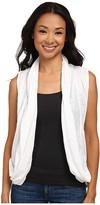 DKNY Mesh Back Draped Cozy Vest