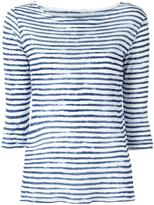 Majestic Filatures striped T-shirt - women - Linen/Flax - I