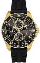 GUESS Black Resin and Goldtone Chronograph Watch