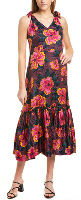 Warm Georgia Silk Maxi Dress