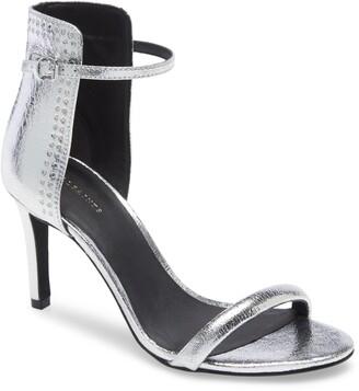 AllSaints Avia Metallic Leather Sandal