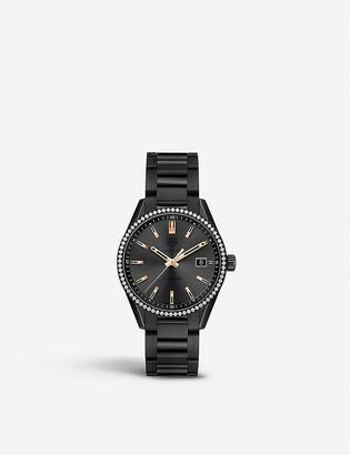 Tag Heuer WAR1115.BA0602 Carrera rose gold-plated, titanium and diamond watch