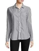 Stateside Raw Edge Oxford Casual Cotton Button-Down Shirt