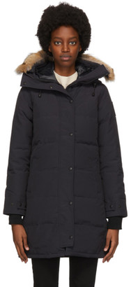 Canada Goose Navy Down Black Label Shelburne Parka