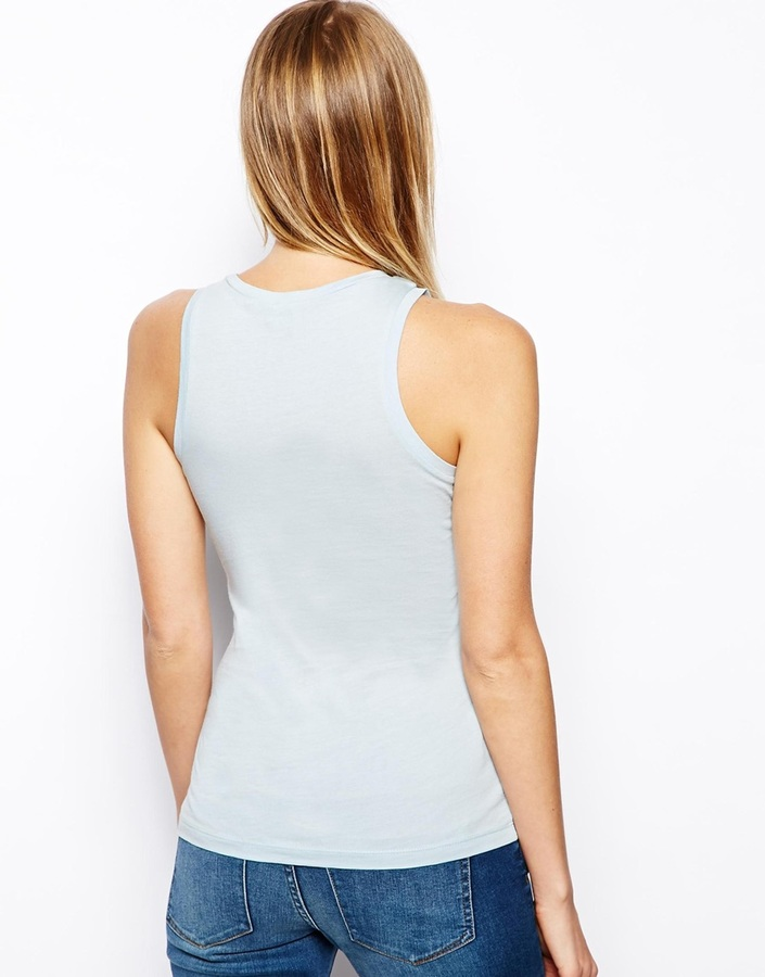 Asos Tank with High Neck in Modal Mix