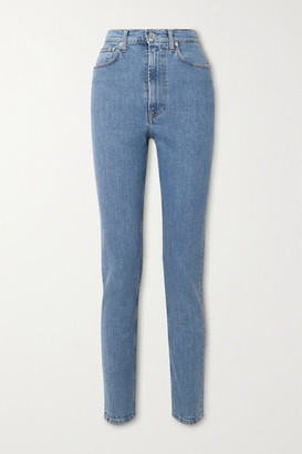 Helmut Lang Femme Hi Spikes High-rise Straight-leg Jeans - Mid denim