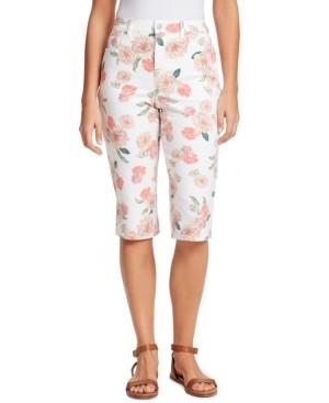 Gloria Vanderbilt Petite Amanda Floral-Print Skimmer Jeans