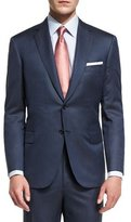 Brioni Super 160s Broken Twill Two-Piece Suit, Navy