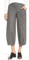 Eileen Fisher Women's Crop Stretch Wool Ankle Pants