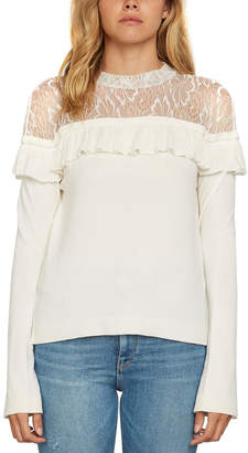 Willow & Clay Off Shoulder Ruffle Show Sweater