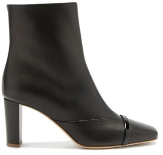 Malone Souliers Lori Square-toe Leather Ankle Boots - Black
