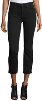 7 For All Mankind Kimmy Slim Illusion Lux Cropped Jeans, Black
