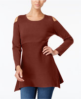 Style&Co. Style & Co Petite Cold-Shoulder Tunic Sweater, Created for Macy's