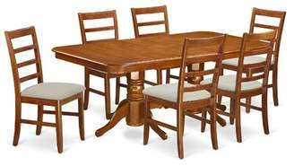 August Grove Pillsbury 7 Piece Wood Dining Set with Double Pedestal Table Legs August Grove