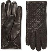 Bottega Veneta Cashmere-lined Intrecciato Leather Gloves