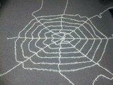 Fun World Costumes Fun World Elastic Tinsel Spider Web Black 5'