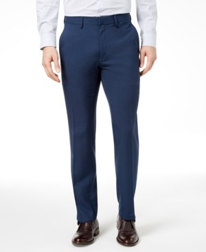 Kenneth Cole Reaction Men's Modern-Fit Micro-Check Dress Pants