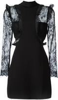 Self-Portrait ruffled detailing sheer dress - women - Polyamide/Polyester/Spandex/Elastane/Viscose - 12