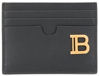 Balmain logo plaque card holder