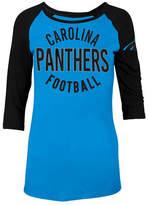 5th & Ocean Women's Carolina Panthers Rayon Raglan T-Shirt