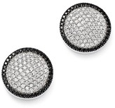 Bloomingdale's Diamond Circle Earrings with Black Diamond Halo in 14K White Gold - 100% Exclusive