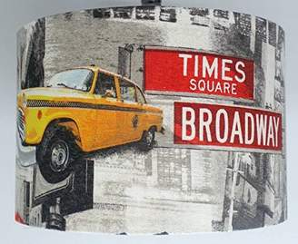 "12"" New York yellow taxi Manhattan Statue of Liberty TABLE lamp shade"