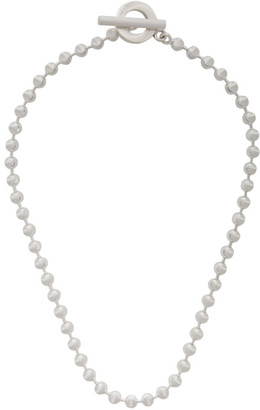 Gucci Silver Ball-Chain Choker Necklace