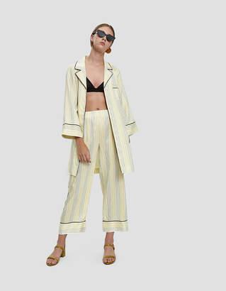 Ganni Bergamot Silk Long Shirt