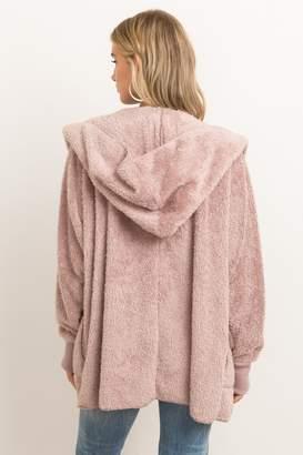Hem & Thread Fur Open Jacket